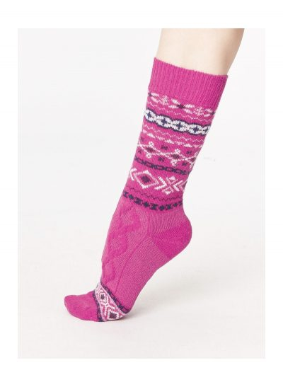 Vlnené ponožky Estelle ružové