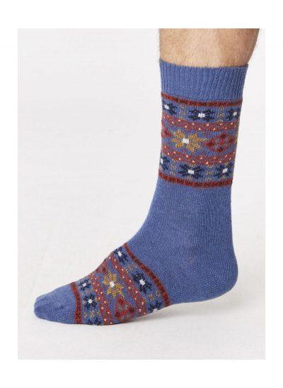 Vlnené ponožky Sven modré