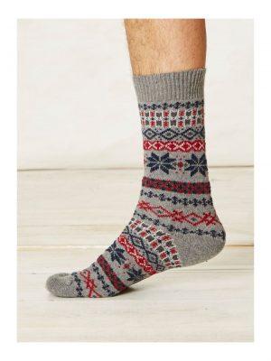 Vlnené ponožky Mekali šedé