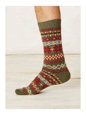 Vlnené ponožky Mekali zelené