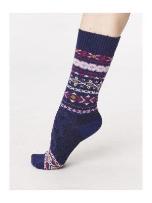 Vlnené ponožky Estelle modré