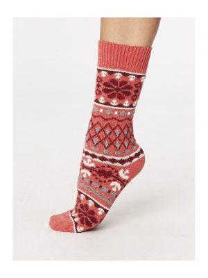 Vlnené ponožky Inga červené