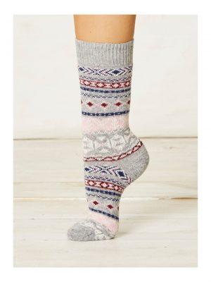 Vlnené ponožky Nera šedé