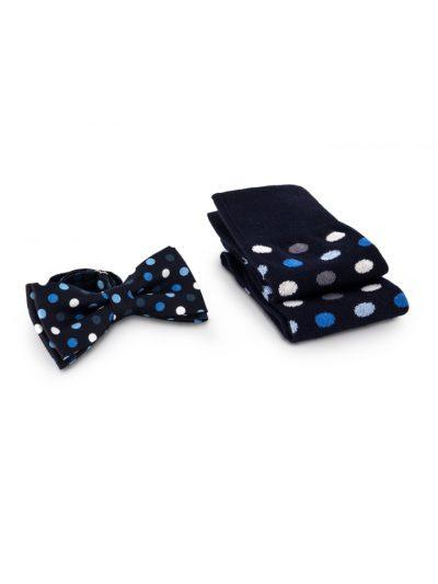 Modrá bodka | Sada ponožiek s motýlikom