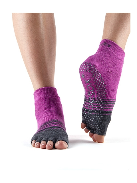 Toesox Ankle Mulberry Stripe