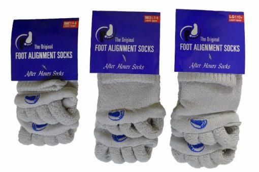 Adjustačné ponožky svetlo šedé