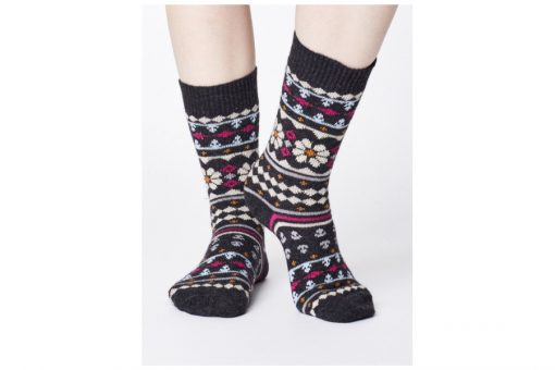 Vlnené ponožky Viktoir šedé