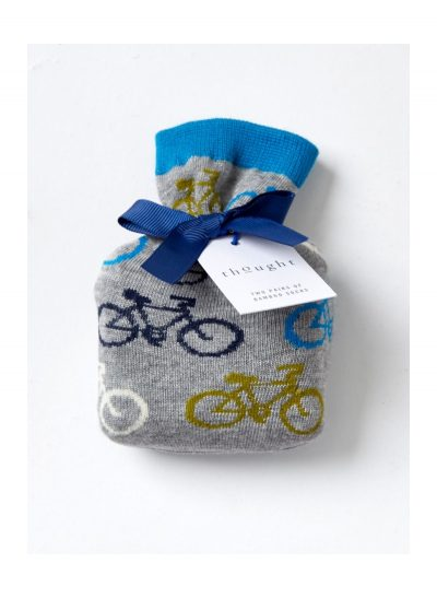 Bicykel šedý v darčekovom vrecúšku