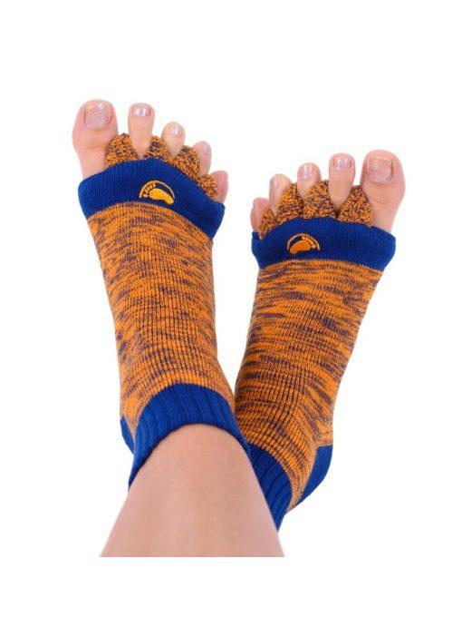 Adjustačné ponožky oranžovo-modré