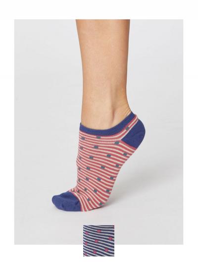Členkové ponožky Bodky a pásiky