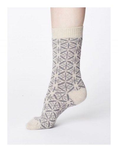 Vlnené ponožky Viridian biele