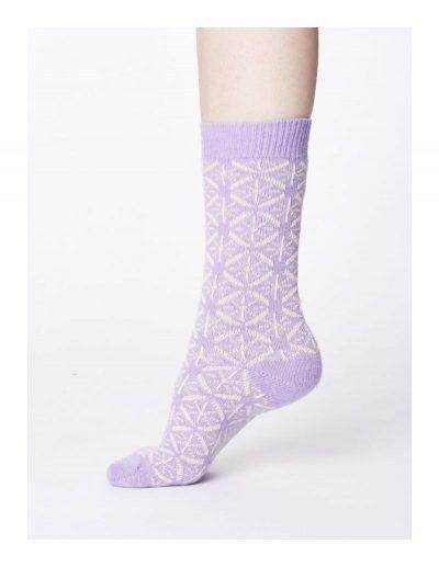 Vlnené ponožky Viridian fialove