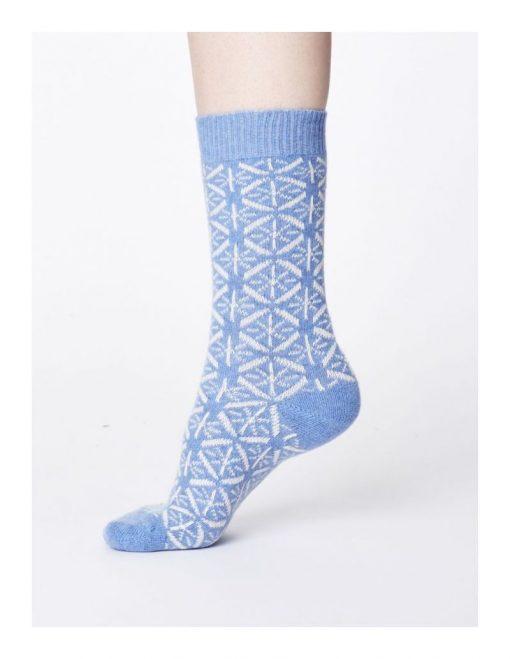 Vlnené ponožky Viridian modré