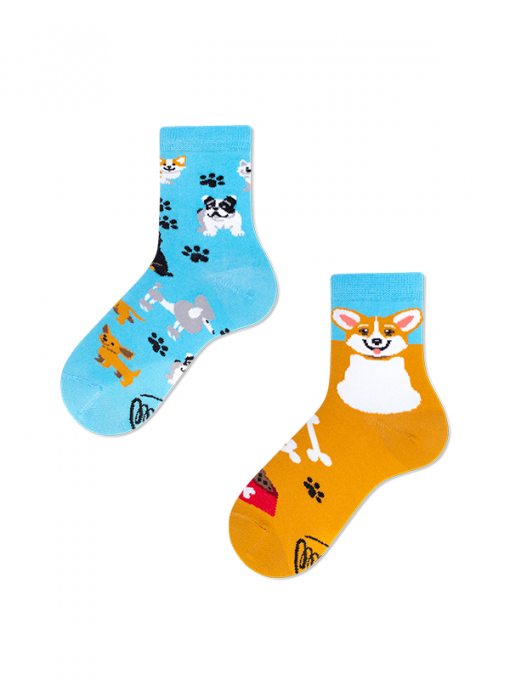 Hravý psík detské ponožky