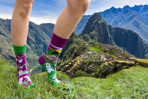 Ponozky Lamy a Machu Picchu