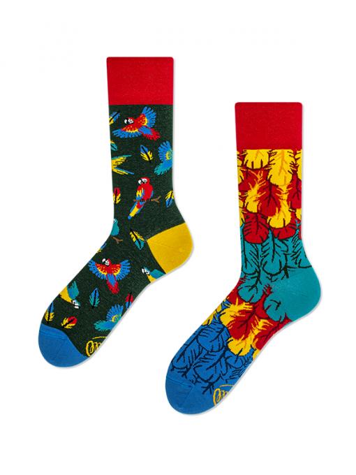 Veselé ponožky Papagáj