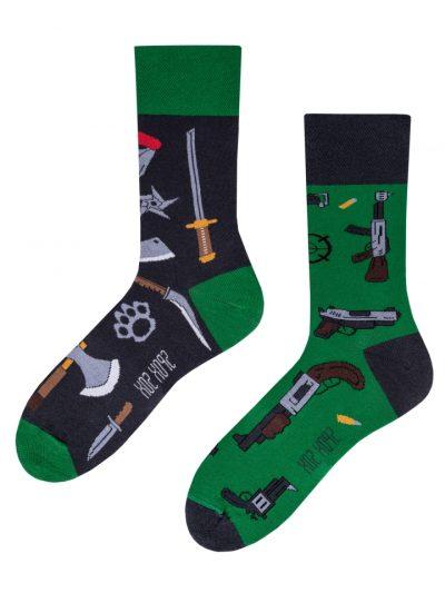 Veselé ponožky Zbrane