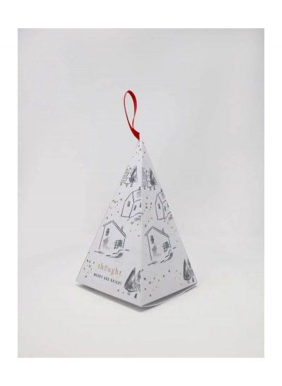 Darček Vianočný stromček 2 páry dámskych ponožiek