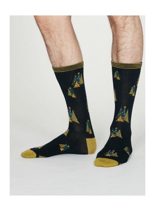 Darček Vianočný stromček 2 páry pánskych ponožiek