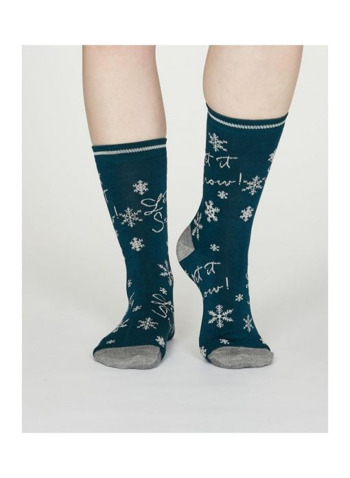 Darčekové balenie 4 dámskych ponožiek Vianoce