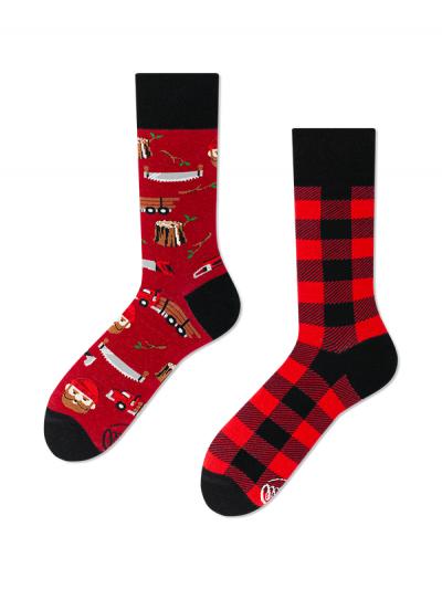 Veselé ponožky Drevorubač