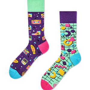 Veselé ponožky Tie roky deväťdesiate – Many Mornings