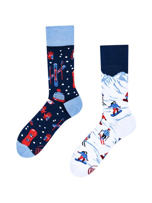 Veselé ponožky Zima na horách